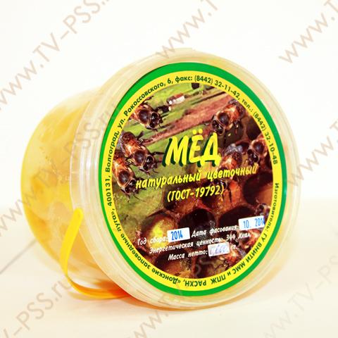 Мед цветочный натуральный